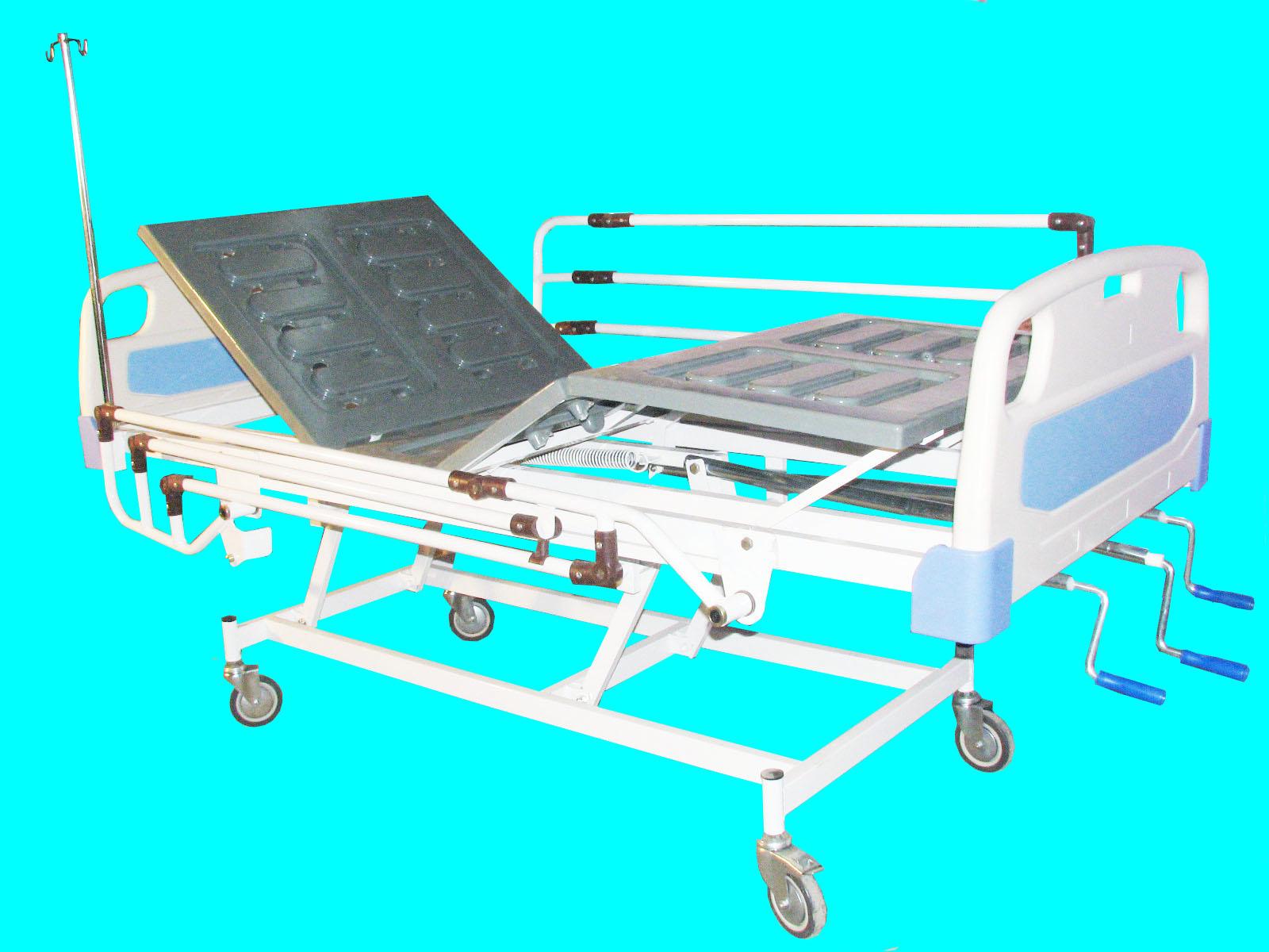 تخت بیمارستانی سه شکن مکانیکی – کد 103