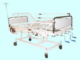 تخت بیمارستانی سه شکن مکانیکی - کد 105