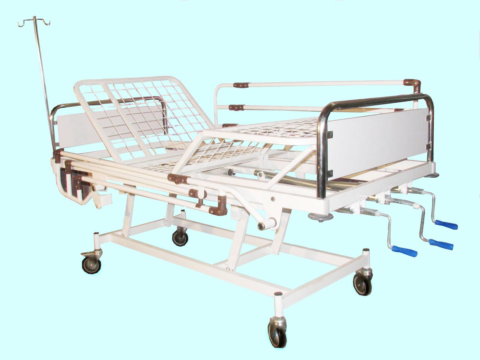 تخت بیمارستانی سه شکن مکانیکی – کد 105