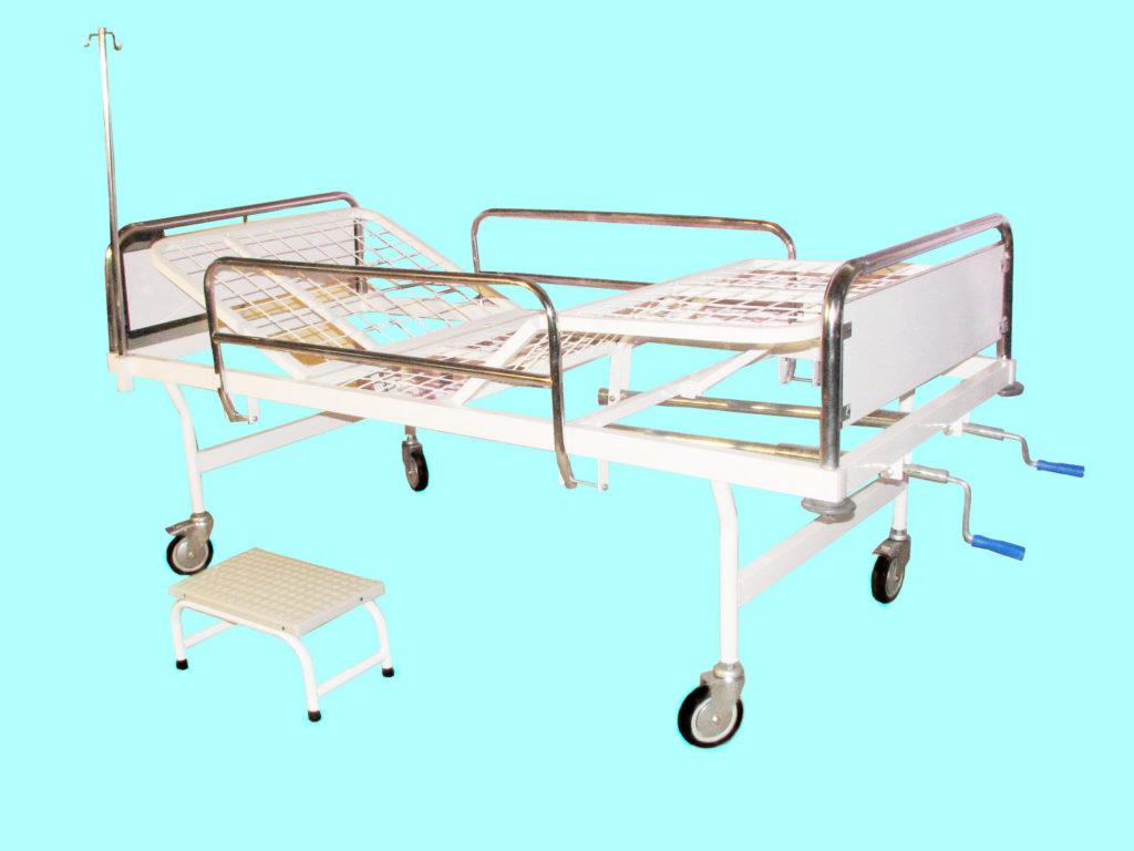 تخت بیمارستانی سه شکن مکانیکی - کد 106