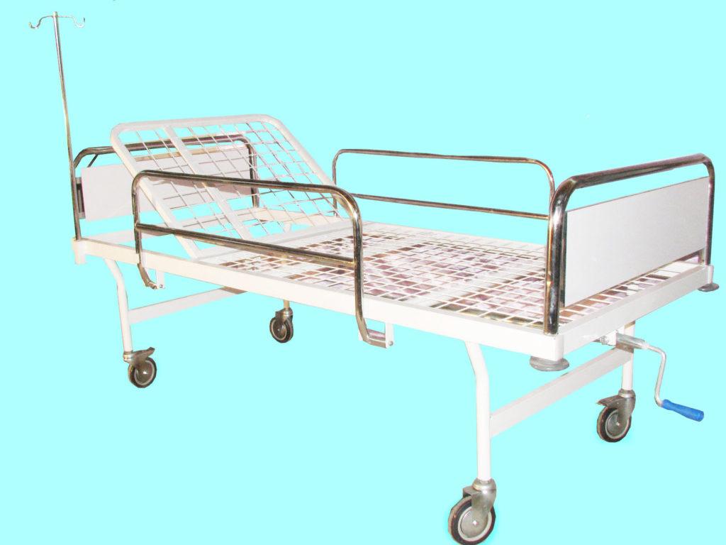 تخت بیمارستانی صحرائی - تخت بیمارستانی فلزی - تخت بیمارستانی مکانیکی- تخت بیمارستانی یک شکن