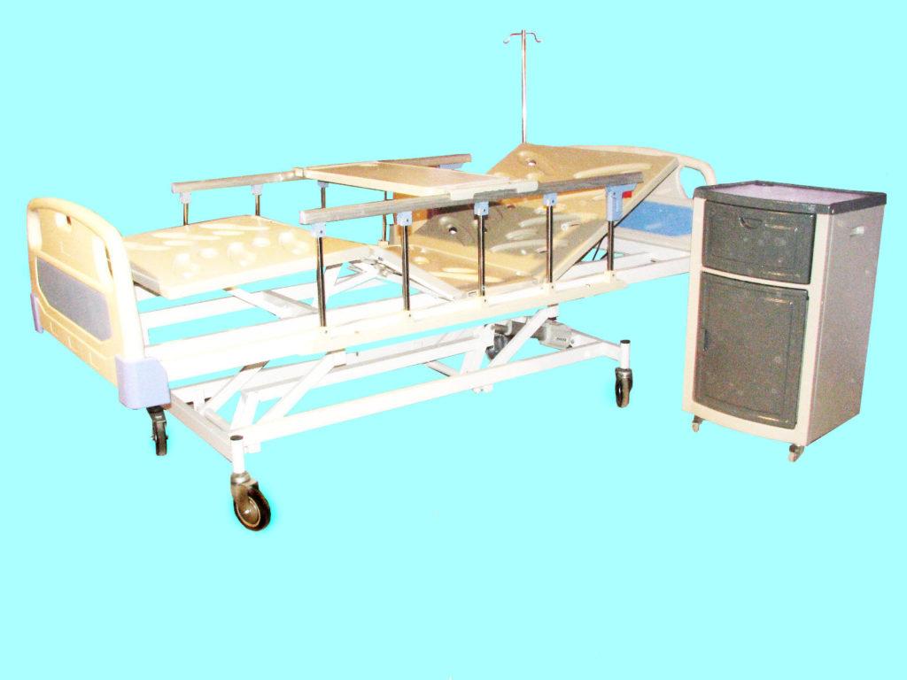تخت بیمارستانی صحرایی | لاکر بیمارستانی | کمد کنار تخت بیمارستانی